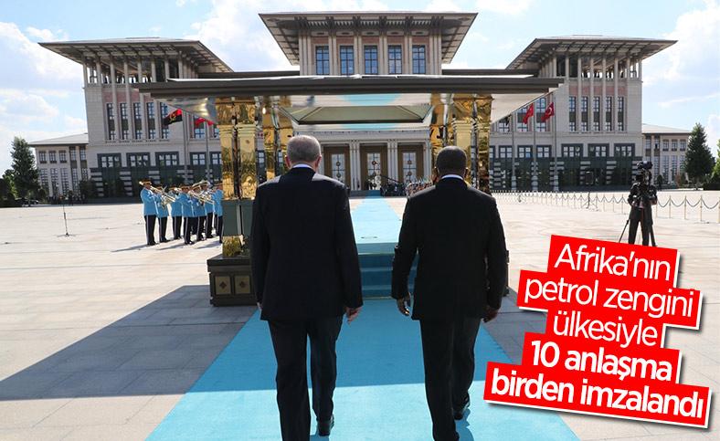 Türkiye ile Angola arasında 10 anlaşma imzalandı