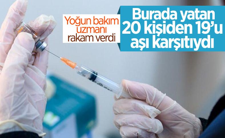 Yoğun bakımdaki korona hastalarının çoğu aşısız