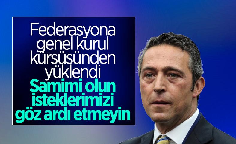 Ali Koç'tan genel kurulda açıklamalar
