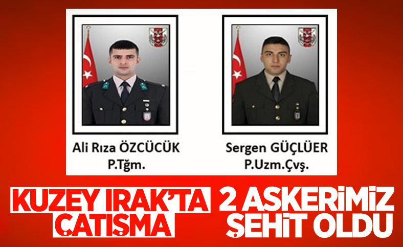 Pençe Harekatı bölgesinde 2 askerimiz şehit oldu