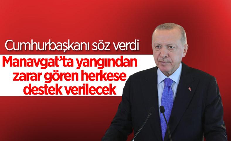 Cumhurbaşkanı Erdoğan'dan Manavgat'taki yangınla ilgili açıklama