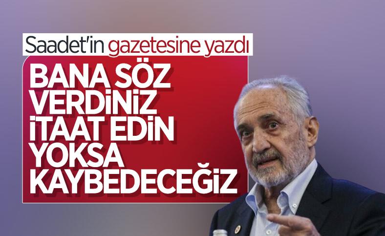 Oğuzhan Asiltürk'ten Saadet Partisi'ne: Bana itaat sözü verdiniz