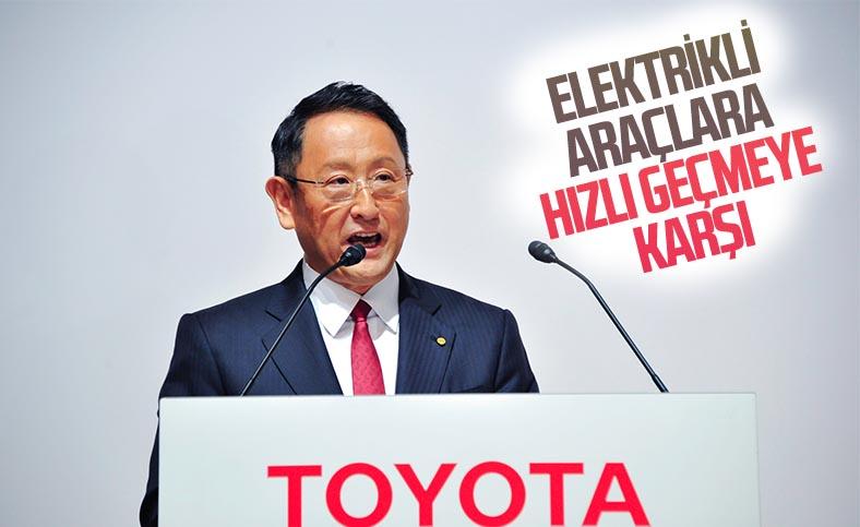 Toyota: Elektrikli araçlara hızlı geçmek gereksiz