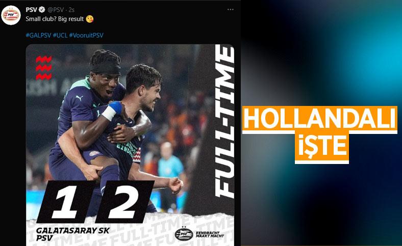 PSV'den Galatasaray taraftarına gönderme: Küçük kulüp