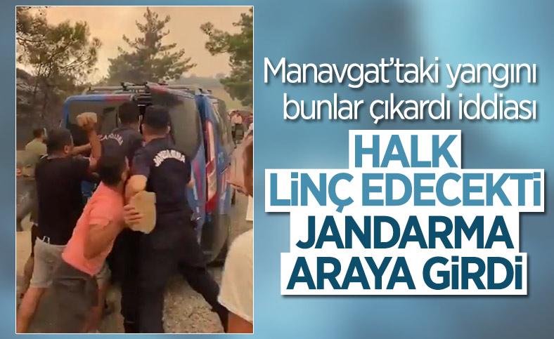 Antalya'da yangını çıkardığı öne sürülen kişilere linç girişimi