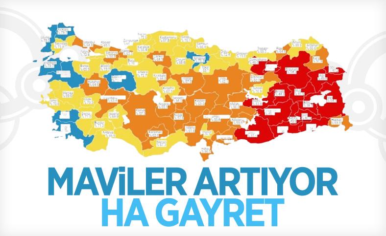 Bakan Koca: Aydın ve Eskişehir Mavi kategoride