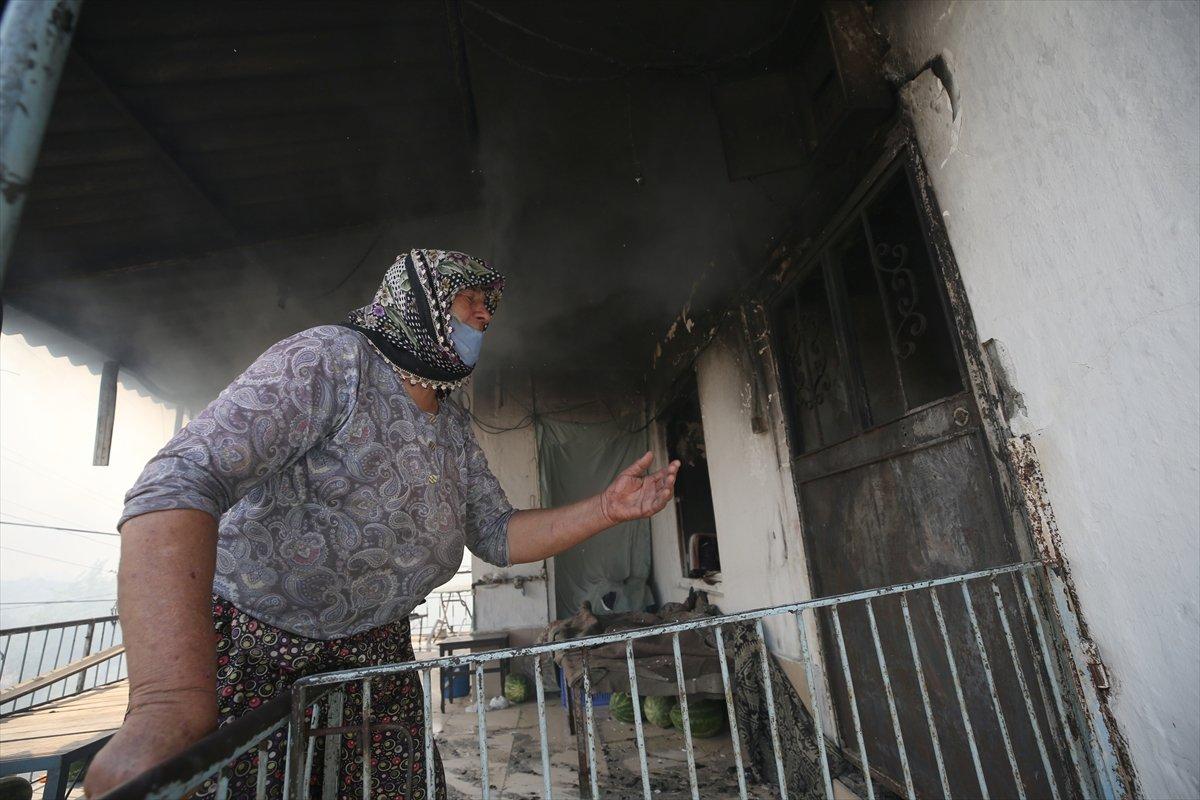 Manavgat ta kanser hastası yaşlı kadının tedavi parası yangında kül oldu #5