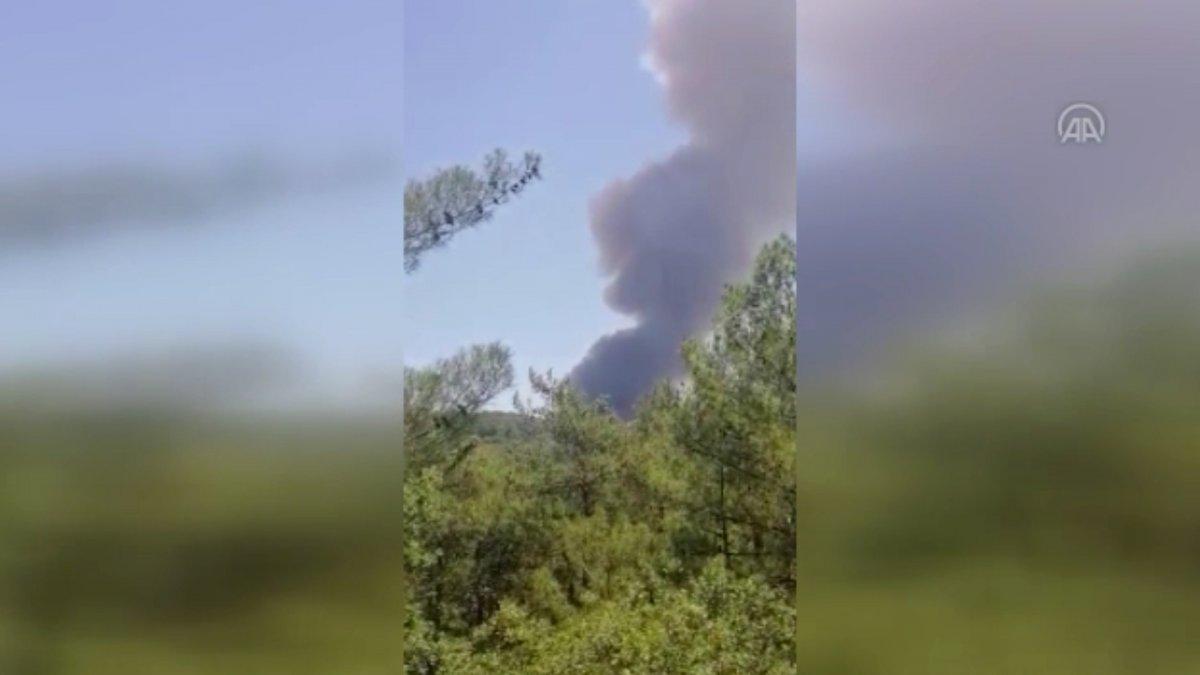 Marmaris te orman yangını #13