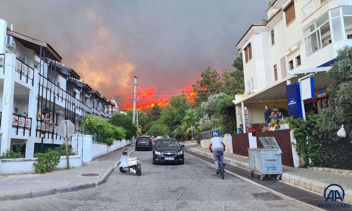 Marmaris te orman yangını #1