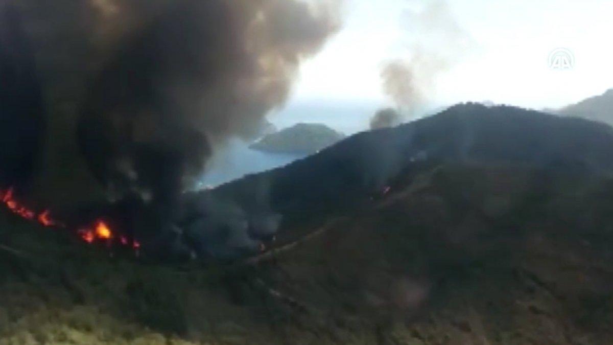 Marmaris te orman yangını #12