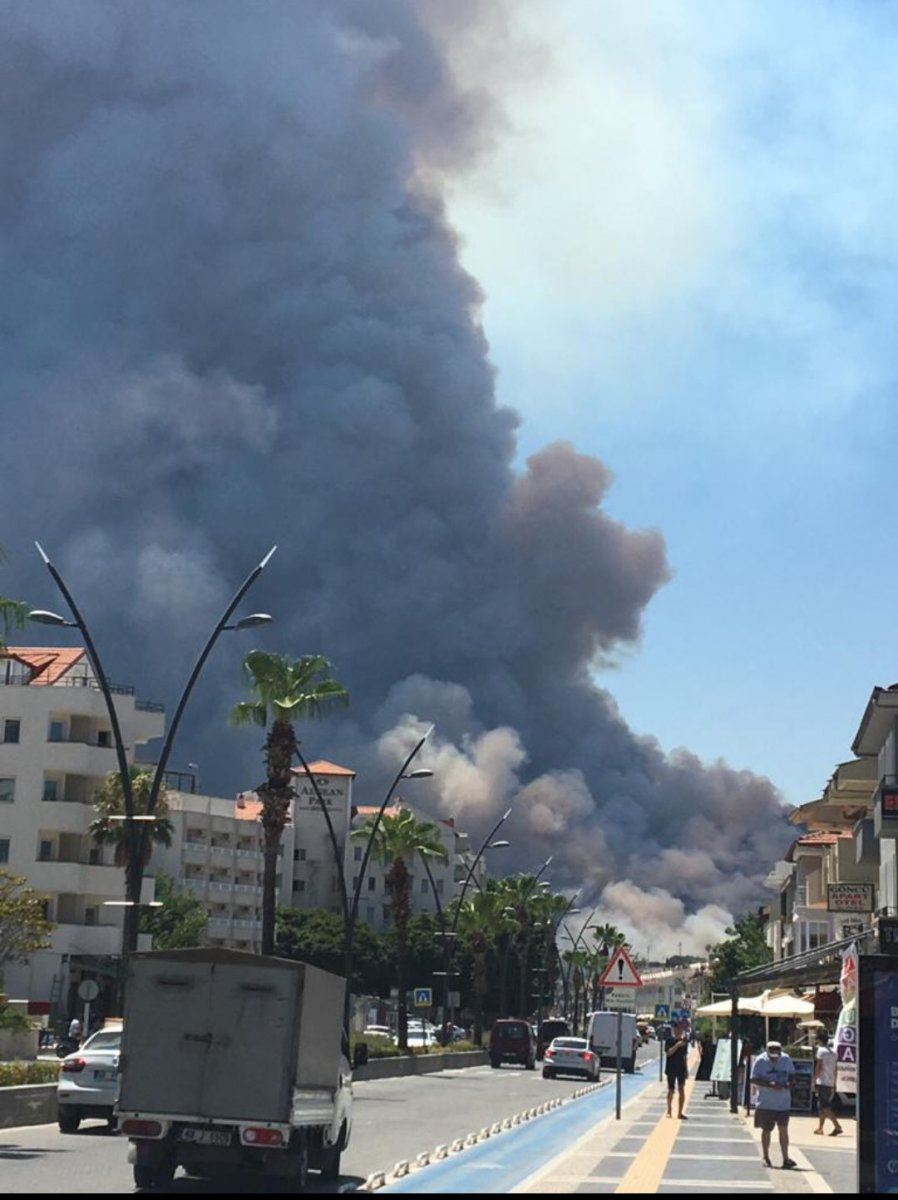 Marmaris te orman yangını #17