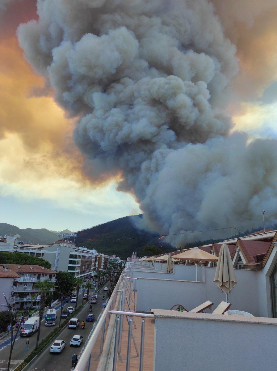 Marmaris te orman yangını #16