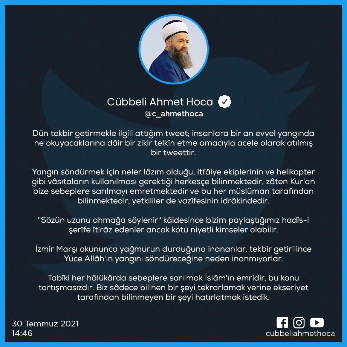 Cübbeli Ahmet'ten kendisini eleştirenlere yanıt #1