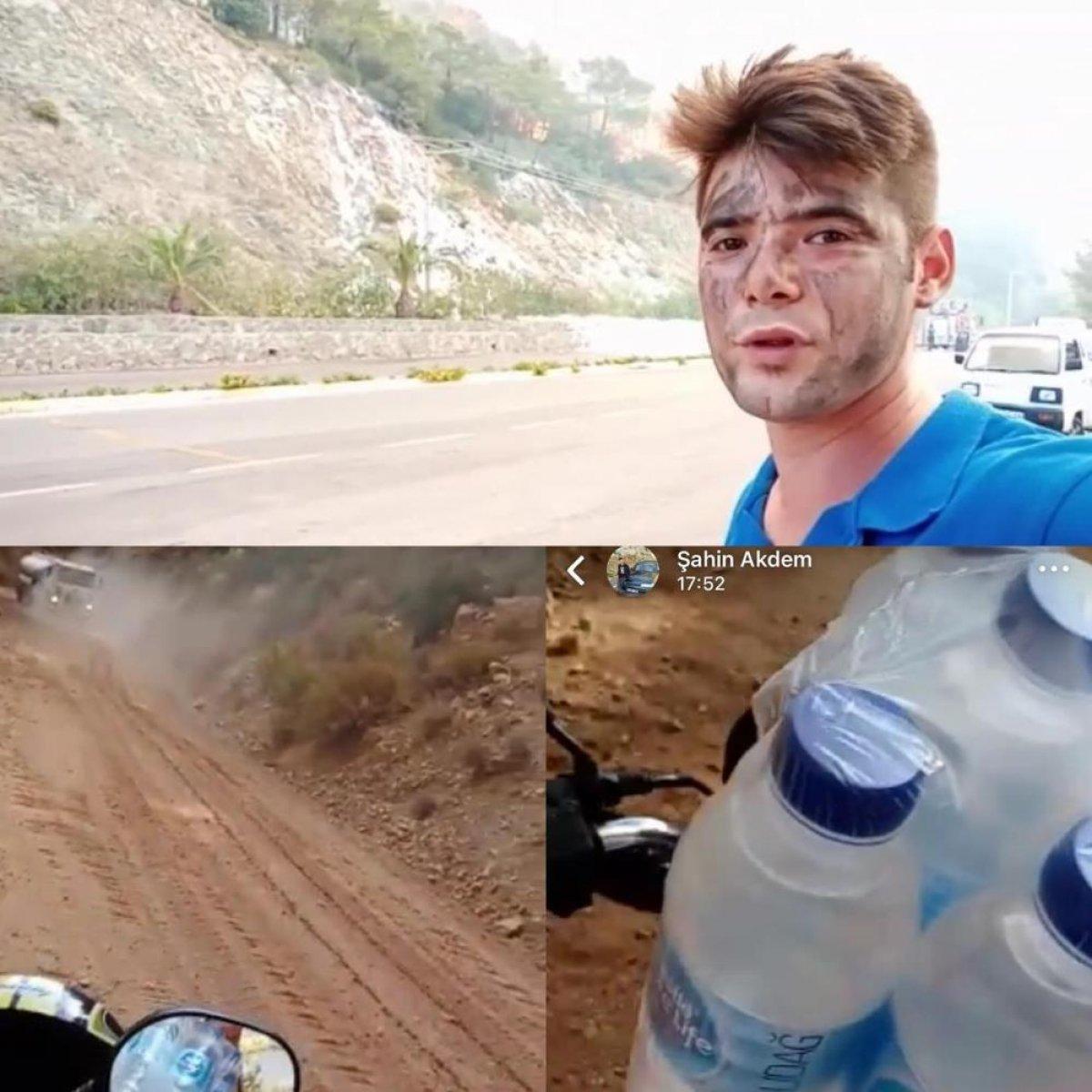 Marmaris te yangın söndüren ekiplere su taşırken can veren Şahin in son paylaşımı #1