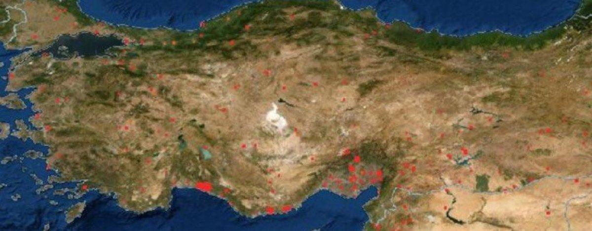 Türkiye deki orman yangınları NASA nın uydu görüntüsünde #1