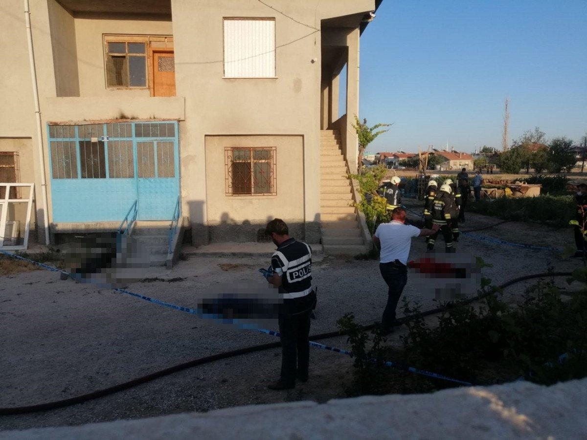 Konya da bir eve silahlı saldırı düzenlendi #1