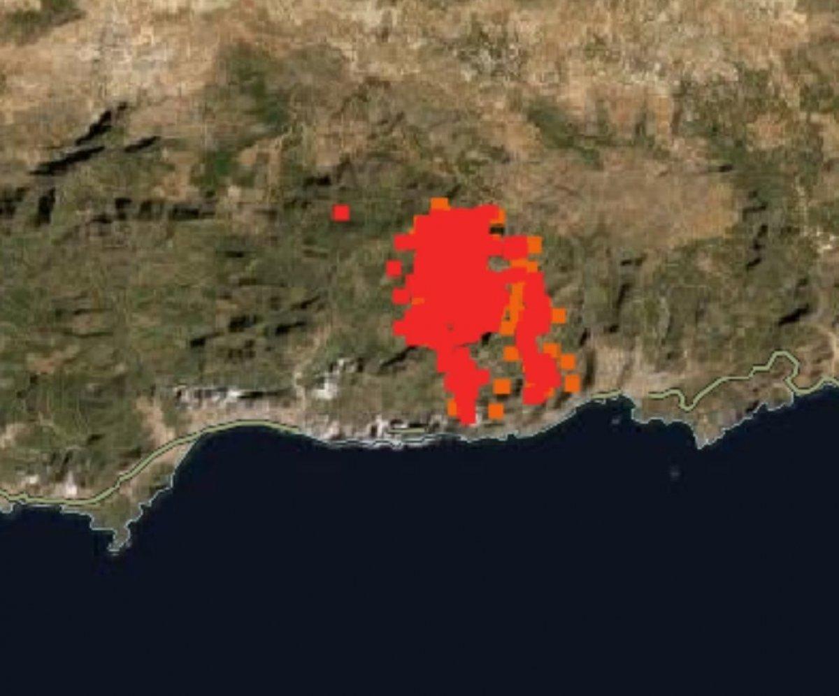 Türkiye deki orman yangınları NASA nın uydu görüntüsünde #3