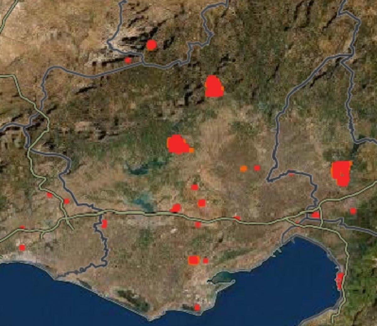 Türkiye deki orman yangınları NASA nın uydu görüntüsünde #5