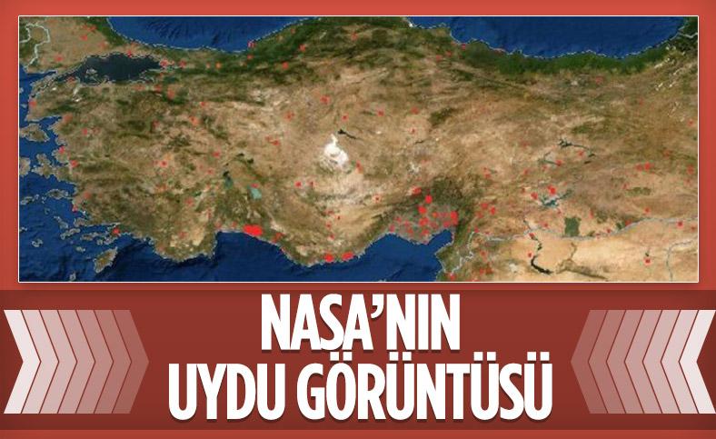 Türkiye'deki orman yangınları NASA'nın uydu görüntüsünde