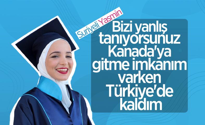 Suriyeli Yasmin Nayal, Türkiye'de üniversiteyi birincilikle bitirdi