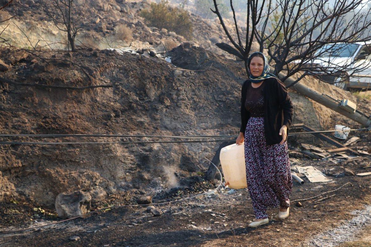 Aydıncık taki yangından etkilenenler yaşadıklarını anlattı #4