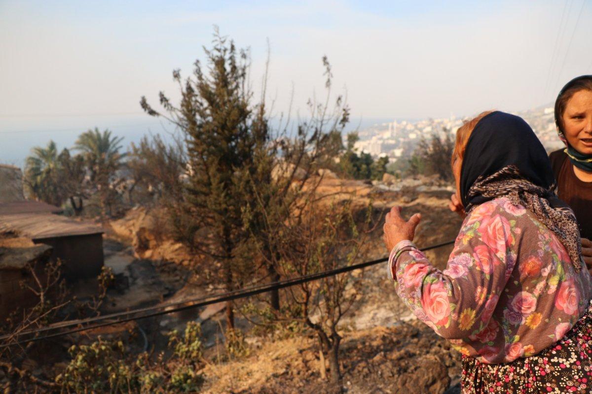 Aydıncık taki yangından etkilenenler yaşadıklarını anlattı #7