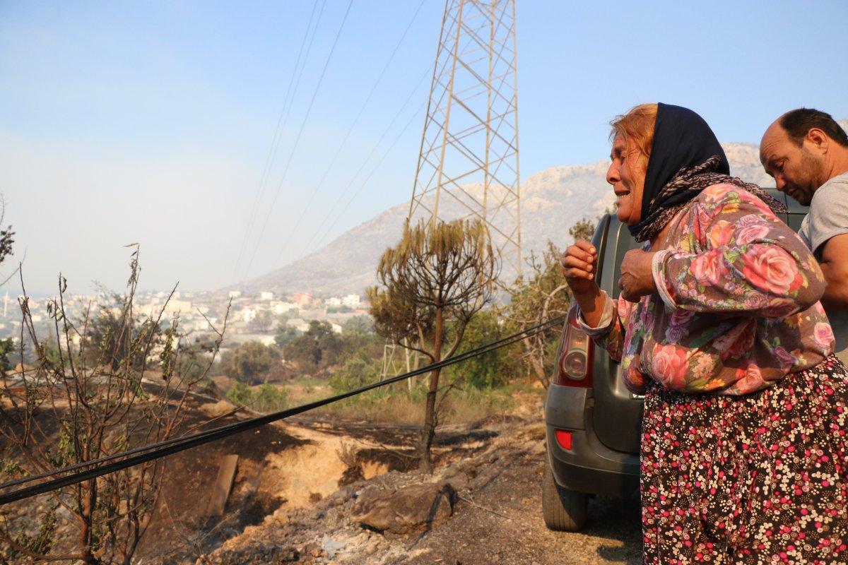 Aydıncık taki yangından etkilenenler yaşadıklarını anlattı #5
