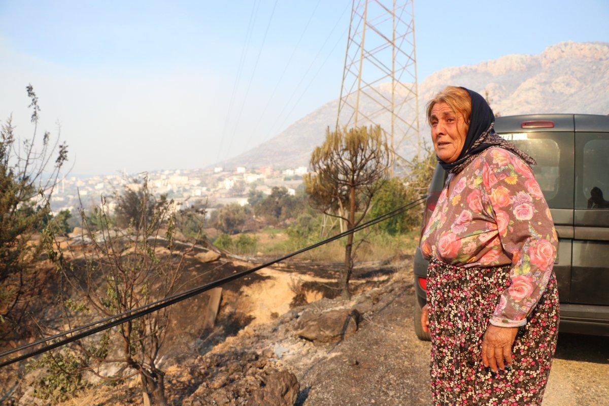 Aydıncık taki yangından etkilenenler yaşadıklarını anlattı #6