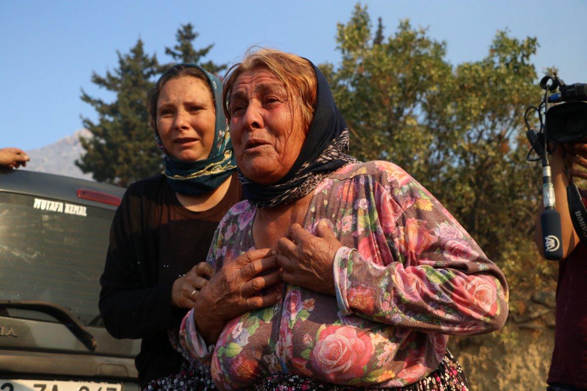Aydıncık taki yangından etkilenenler yaşadıklarını anlattı #9