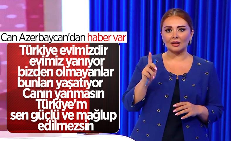 Azerbaycanlı spikerin Türkiye'ye destek mesajı