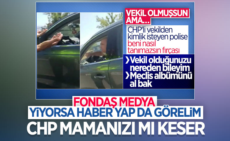 CHP'li Turan Aydoğan'ın polisi azarlamasına muhalif medya sessiz kaldı