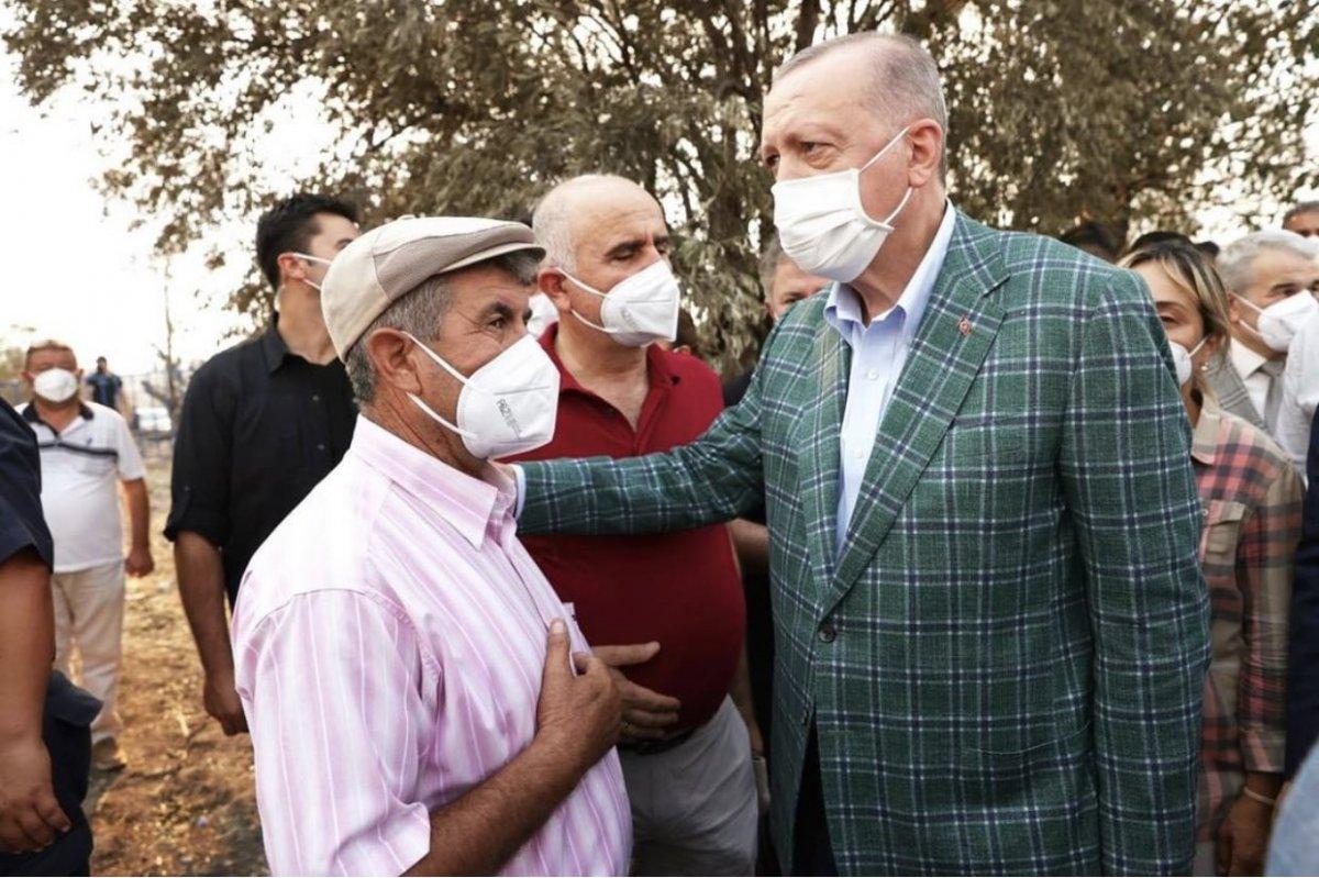 Cumhurbaşkanı Erdoğan yangın bölgesinde #5