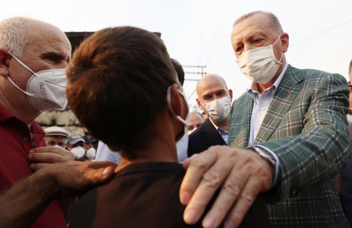 Cumhurbaşkanı Erdoğan yangın bölgesinde #7