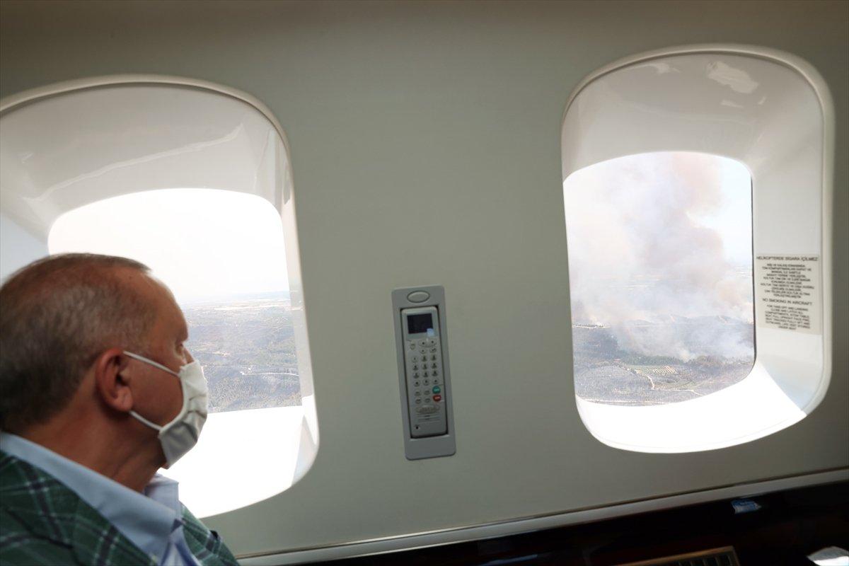 Cumhurbaşkanı Erdoğan yangın bölgesinde #2