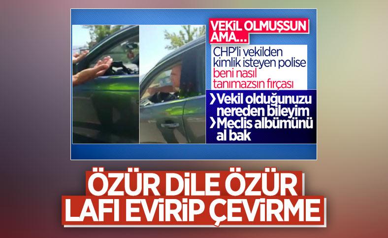 Polisleri azarlamaya kalkan CHP'li Turan Aydoğan'dan açıklama