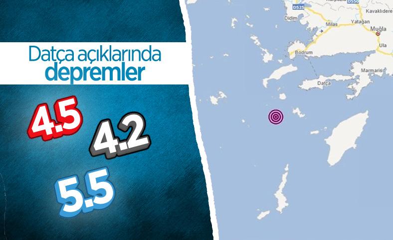 Ege Denizi Datça açıklarında deprem