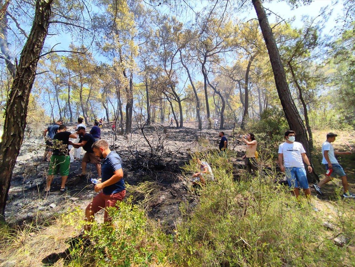 Kemer'de 3 alanda başlayan orman yangını söndürüldü #3