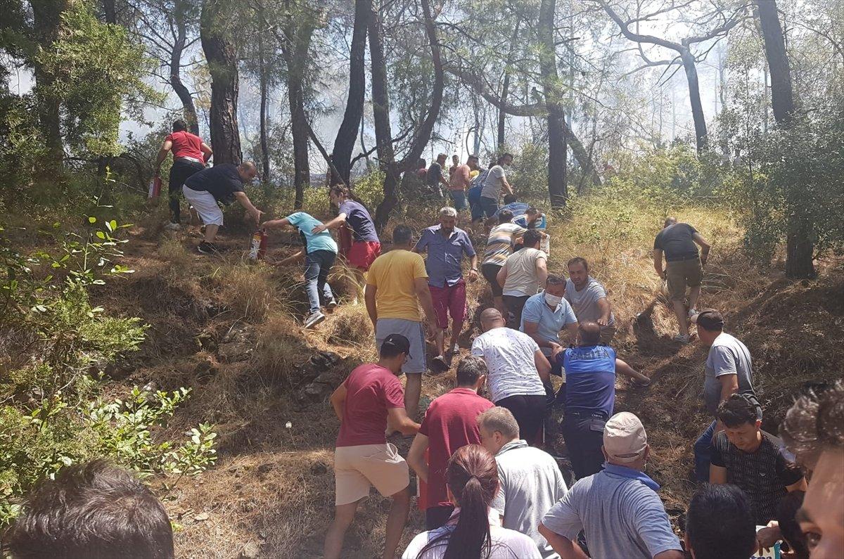 Kemer'de 3 alanda başlayan orman yangını söndürüldü #7