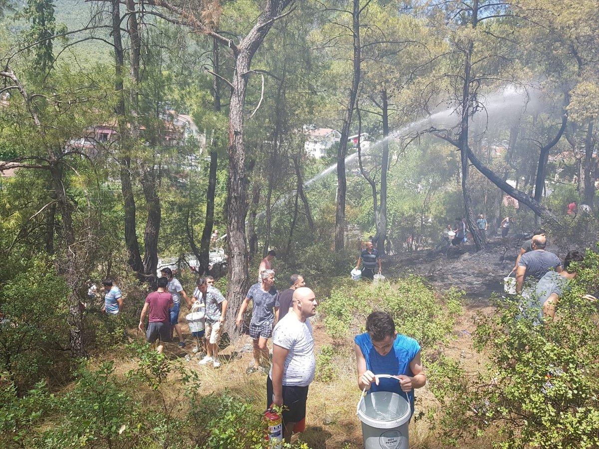 Kemer'de 3 alanda başlayan orman yangını söndürüldü #1