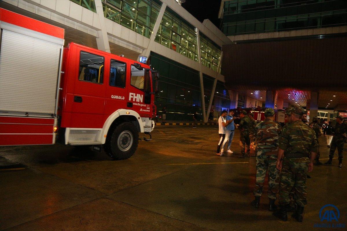 Azerbaycan dan yangınla mücadeleye destek ekibi geldi #11