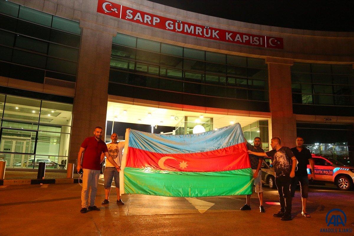 Azerbaycan dan yangınla mücadeleye destek ekibi geldi #1