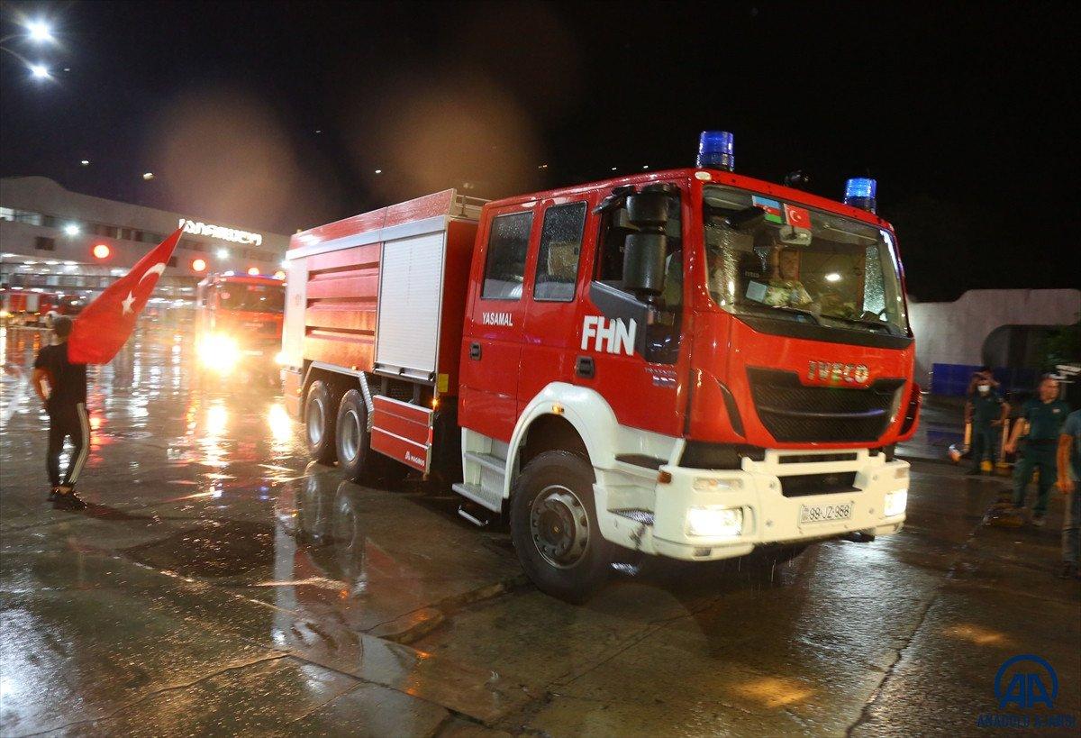 Azerbaycan dan yangınla mücadeleye destek ekibi geldi #2
