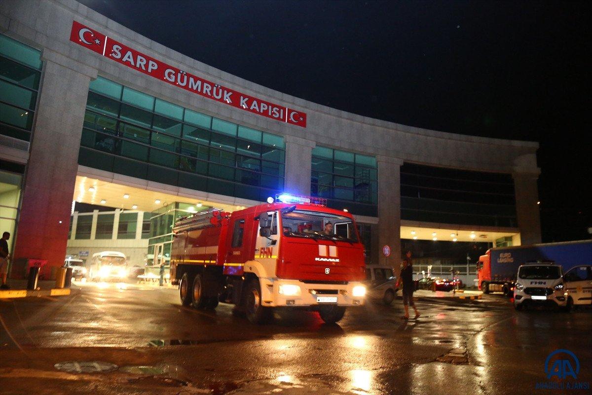 Azerbaycan dan yangınla mücadeleye destek ekibi geldi #13