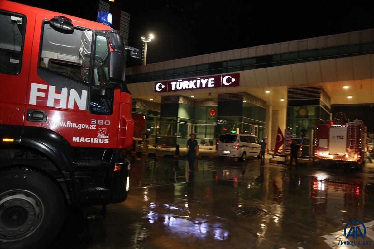 Azerbaycan dan yangınla mücadeleye destek ekibi geldi #5