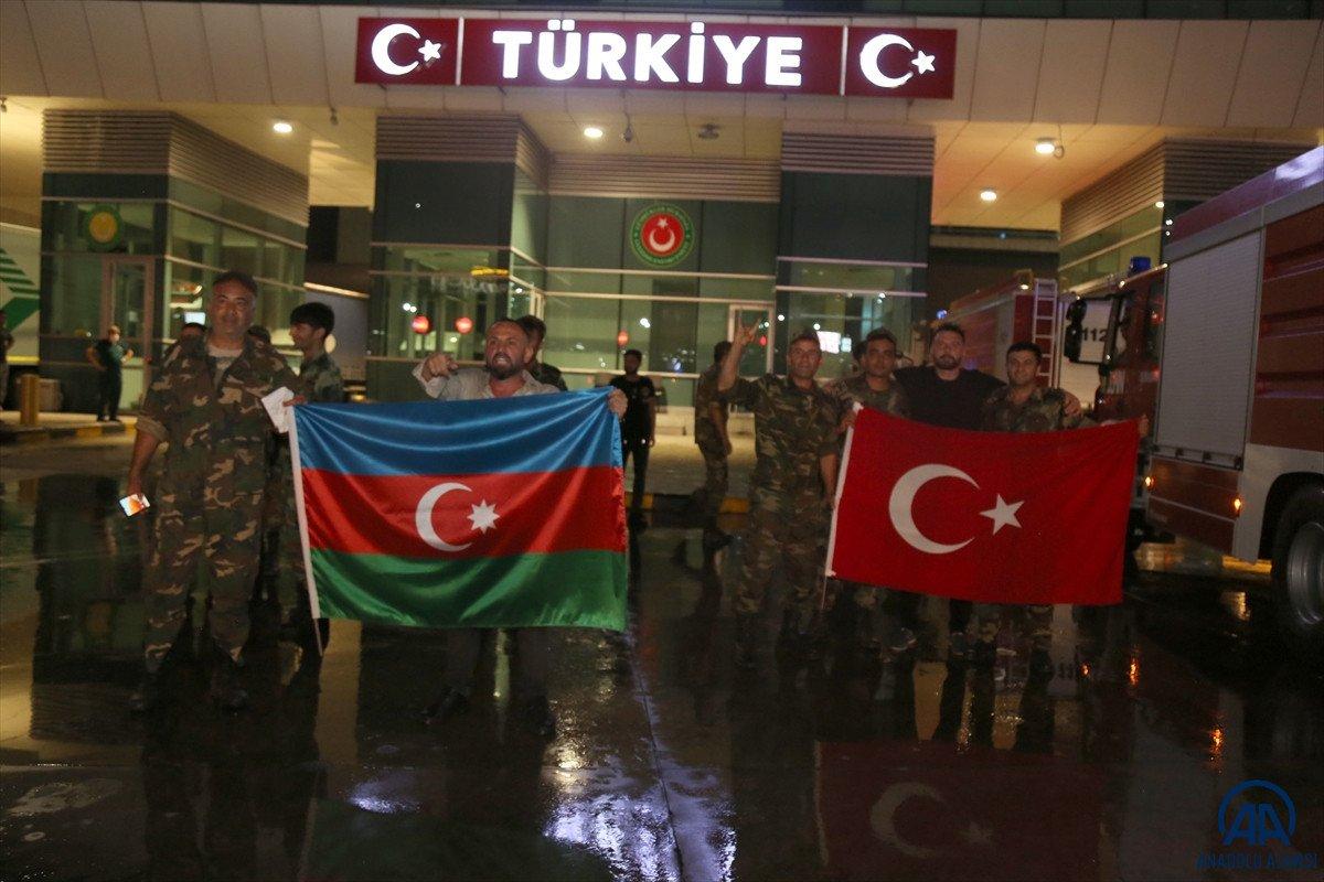 Azerbaycan dan yangınla mücadeleye destek ekibi geldi #8