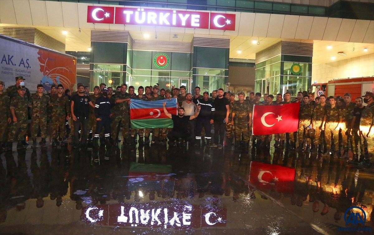 Azerbaycan dan yangınla mücadeleye destek ekibi geldi #6