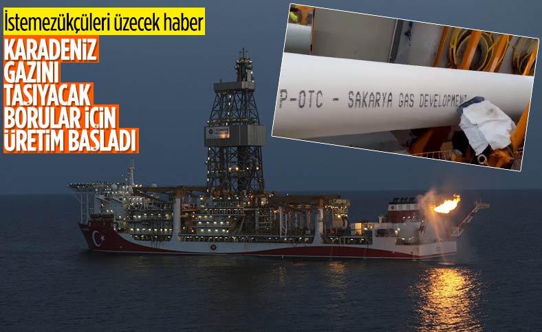 Karadeniz'de tabana serilecek doğalgaz borularının üretimleri başladı