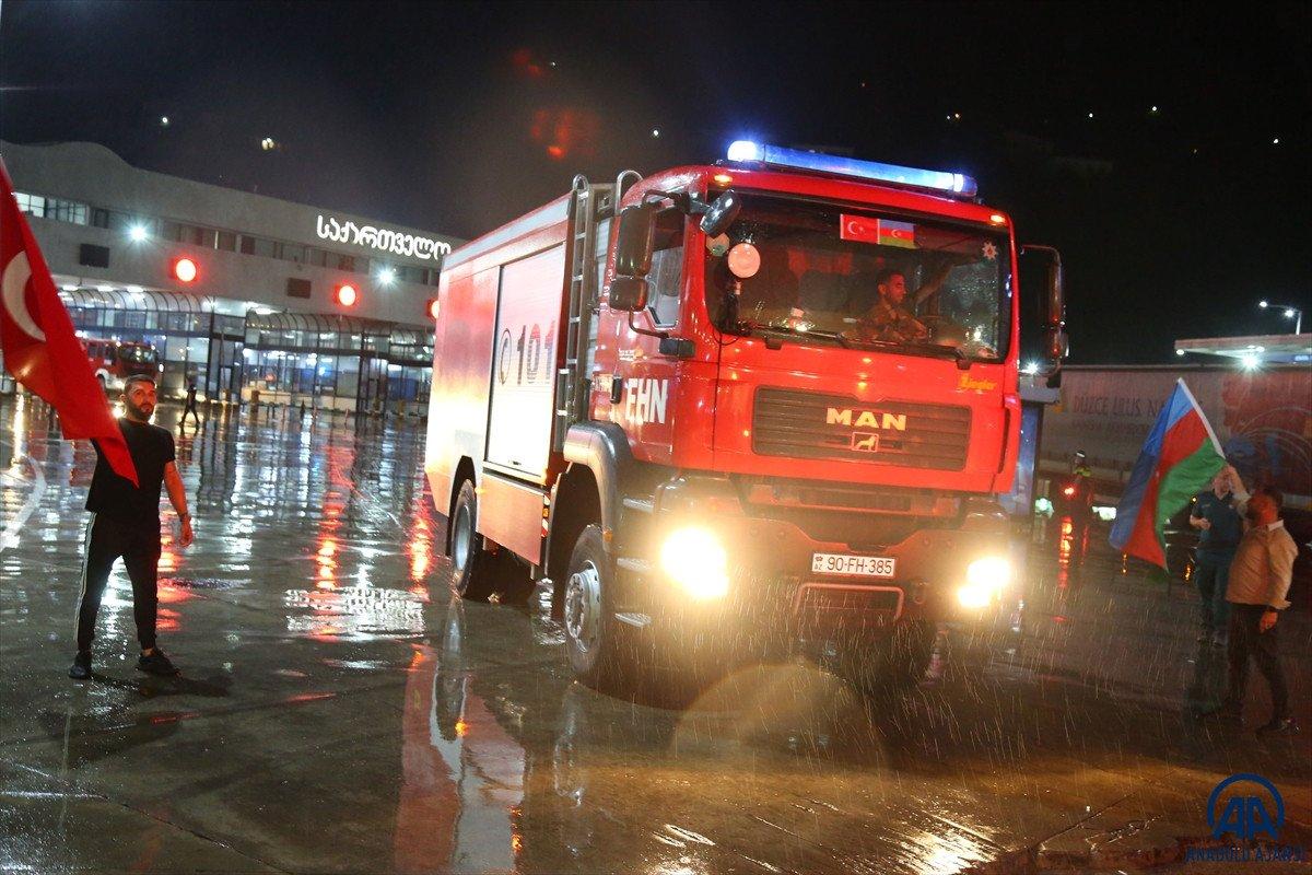 Azerbaycan dan yangınla mücadeleye destek ekibi geldi #4