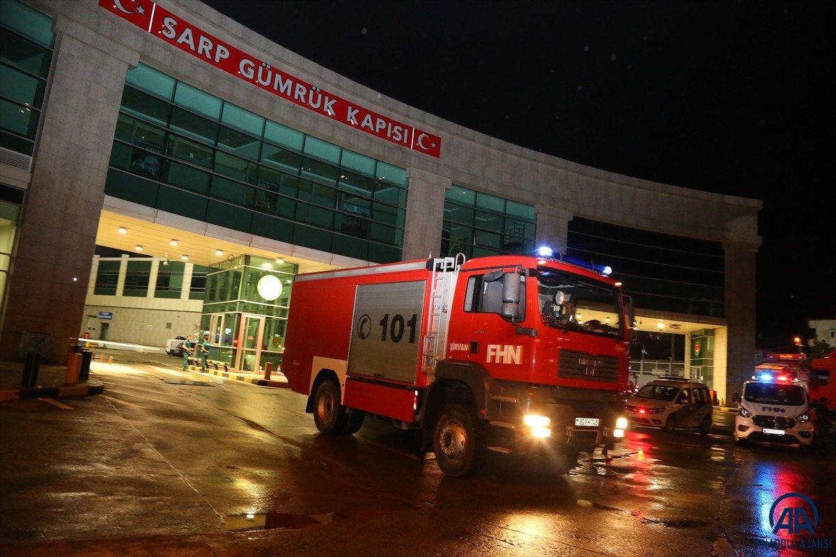 Azerbaycan dan yangınla mücadeleye destek ekibi geldi #12