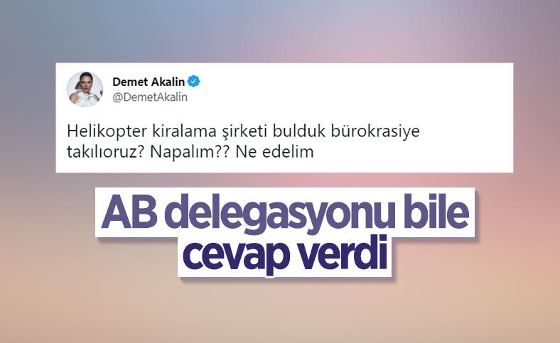 AB Türkiye Delegasyonu, Demet Akalın'ın sorusunu cevapsız bırakmadı